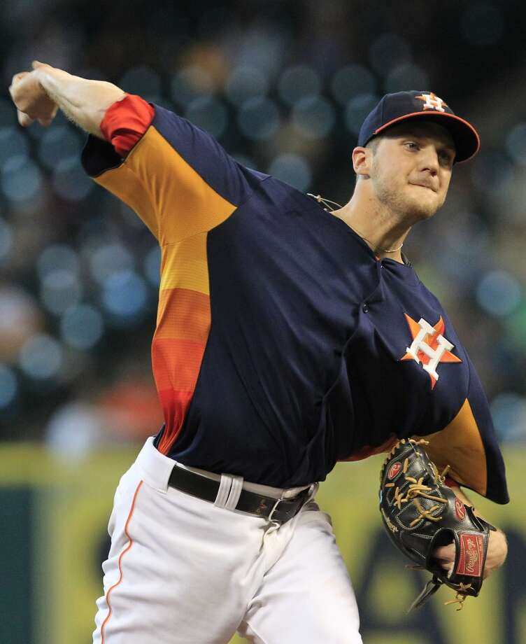 Sept. 15: Angels 2, Astros 1  Astros starter Paul Clemens allowed two runs on six hits in seven innings of work Sunday. Photo: Cody Duty, Chronicle