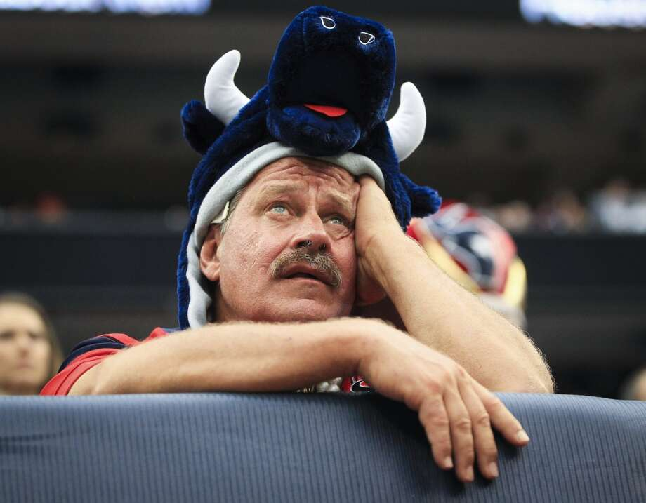 A Houston Texans fan reacts during the third quarter. Photo: Karen Warren, Houston Chronicle