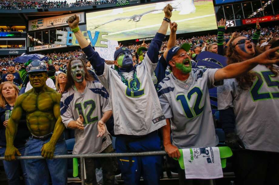 Fans cheer during player introductions prior to the game between the Seattle Seahawks and the San Francisco 49ers at CenturyLink Field on September 15, 2013 in Seattle, Washington.  (Photo by Otto Greule Jr/Getty Images) Photo: Otto Greule Jr, Getty Images