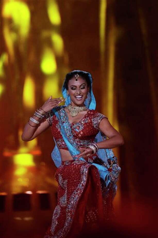 The newly-crowned Miss America, Miss New York Nina Davuluri, performs during the talent portion of the Miss America competition on Sunday night. Photo: Mel Evans, AP / AP