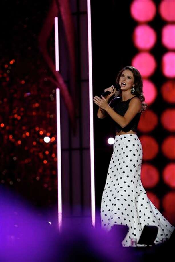 Miss Oklahoma Kelsey Griswold performs a song during the talent portion of the competition. Photo: Mel Evans, AP / AP