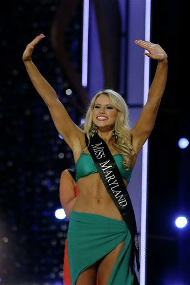 Miss Maryland Christina Denny waves to the crowd during the Miss America 2014 pageant. Photo: Mel Evans, AP / AP