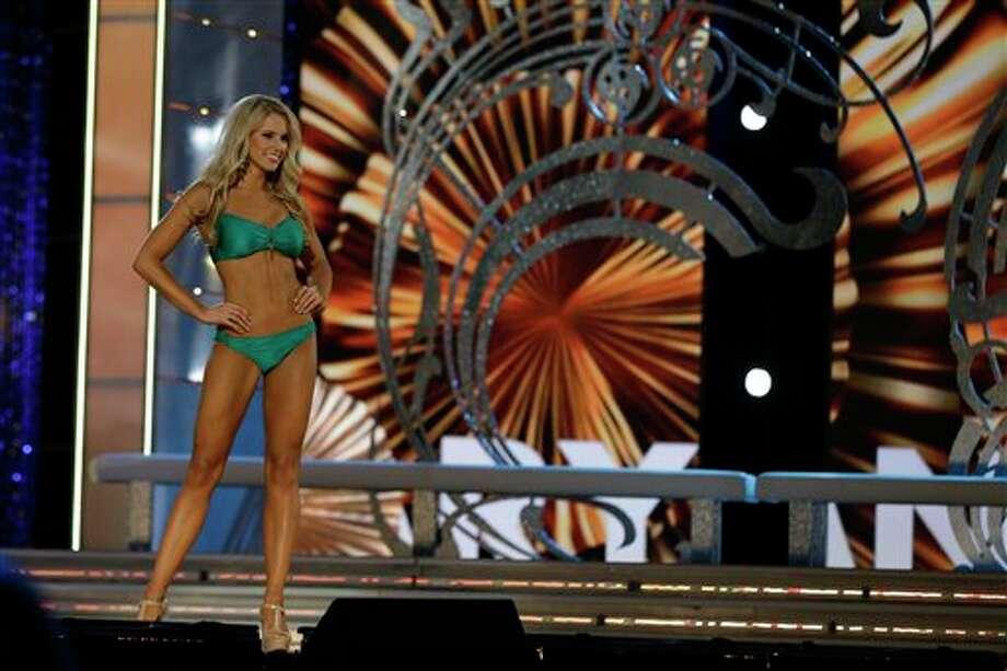 Miss Maryland Christina Denny displays her swimsuit. Photo: Mel Evans, AP / AP
