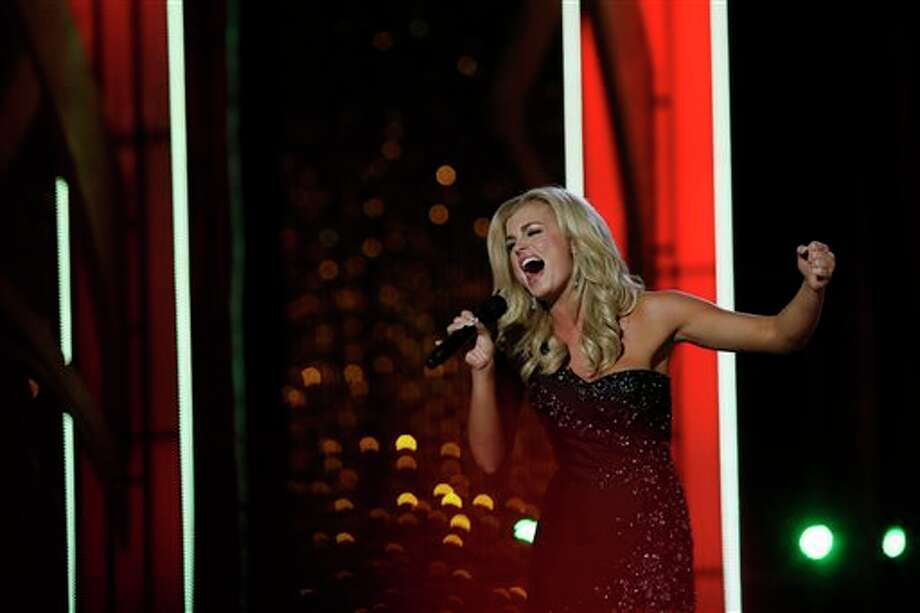 Miss Georgia Carly Mathis performs during the Miss America 2014 pageant. Photo: Mel Evans, AP / AP