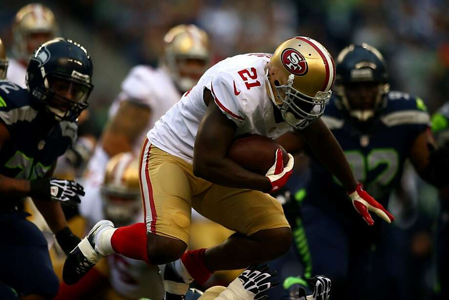 Frank Gore runs the ball against the Seattle Seahawks during their game at Qwest Field on September 15, 2013 in Seattle, Washington. Photo: Jonathan Ferrey, Getty Images