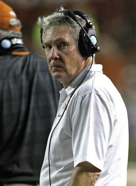 Only a few years removed from competing for national titles, Mack Brown is facing calls for his ouster as UT coach. Photo: Michael Thomas / Associated Press