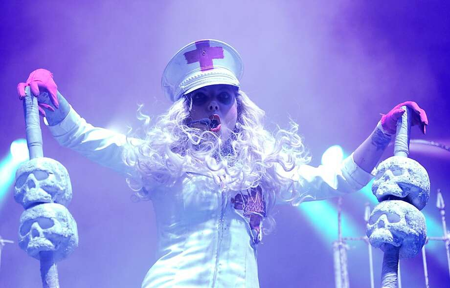 LAS VEGAS, NV - SEPTEMBER 15:  Singer Maria Brink of the band In This Moment performs during the Carnival of Madness tour at The Joint inside the Hard Rock Hotel & Casino on September 15, 2013 in Las Vegas, Nevada.  (Photo by Ethan Miller/Getty Images) Photo: Ethan Miller, Getty Images
