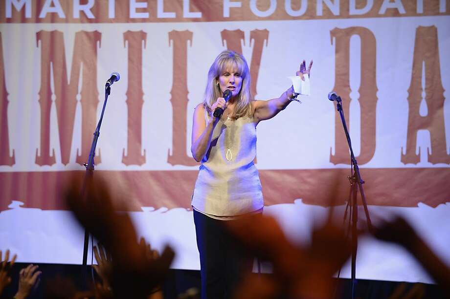 "NEW YORK, NY - SEPTEMBER 15:  CEO of the T.J. Martell Foundation Laura Heatherly speaks onstage at the ""T.J. Martell Foundation's 14th Annual Family Day Honoring Paradigm Talent Agency's Marty Diamond and Family"" - Performance at Roseland Ballroom on September 15, 2013 in New York City.  (Photo by Theo Wargo/Getty Images for T.J. Martell Foundation) Photo: Theo Wargo, (Credit Too Long, See Caption)"