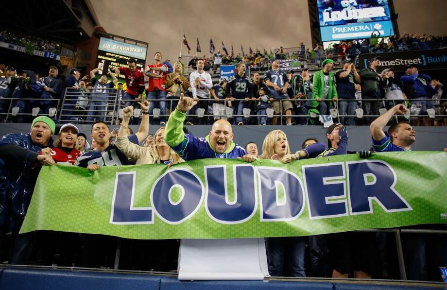 SEATTLE, WA - SEPTEMBER 15:  Fans cheer during the game between the Seattle Seahawks and the San Francisco 49ers at CenturyLink Field on September 15, 2013 in Seattle, Washington.  (Photo by Otto Greule Jr/Getty Images) Photo: Getty Images