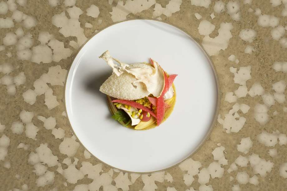 Marinus: Matsutake Mousse, pistachio, ruby red apple, sunflower at Marinus in Carmel Valley,. Photo: Jason Henry, Special To The Chronicle
