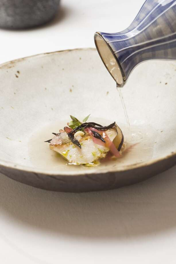 Aubergine: Abalone in its natural surroundings at Aubergine in Carmel. Photo: Jason Henry, Special To The Chronicle