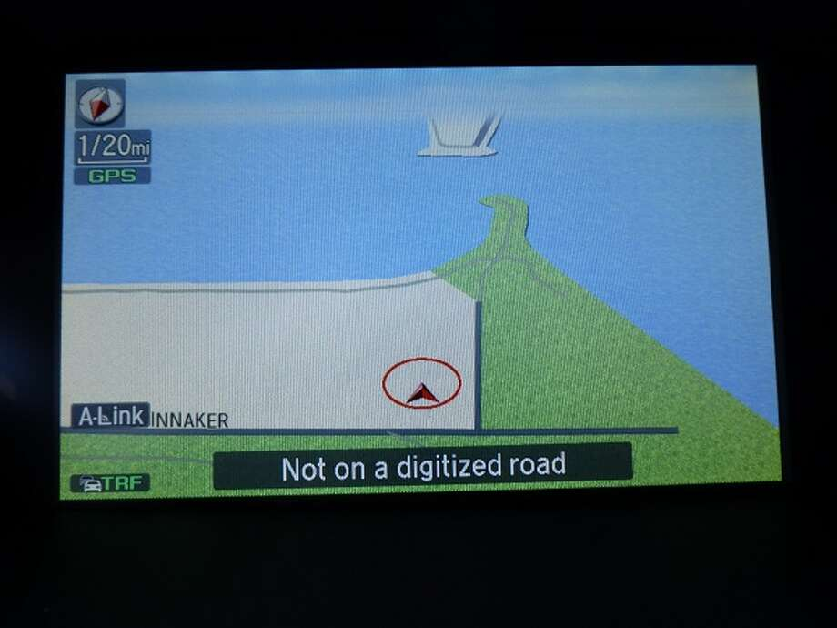 "Perhaps that message is a metaphor for our age. ""Not on a digitized road."" Imagine that! Can you be cited for driving on a non-digitized road?"