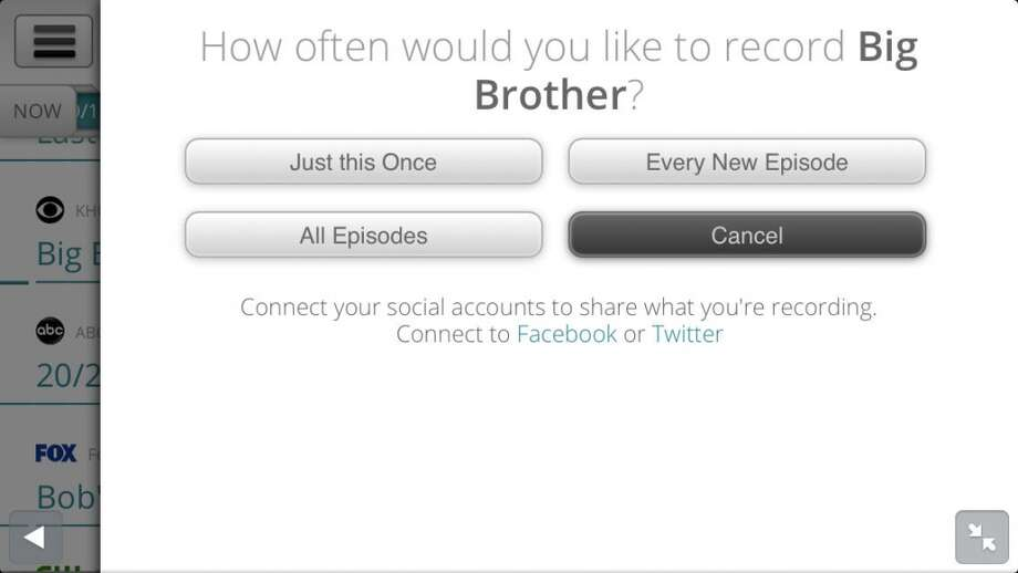 You can choose to record one episode or a whole season.