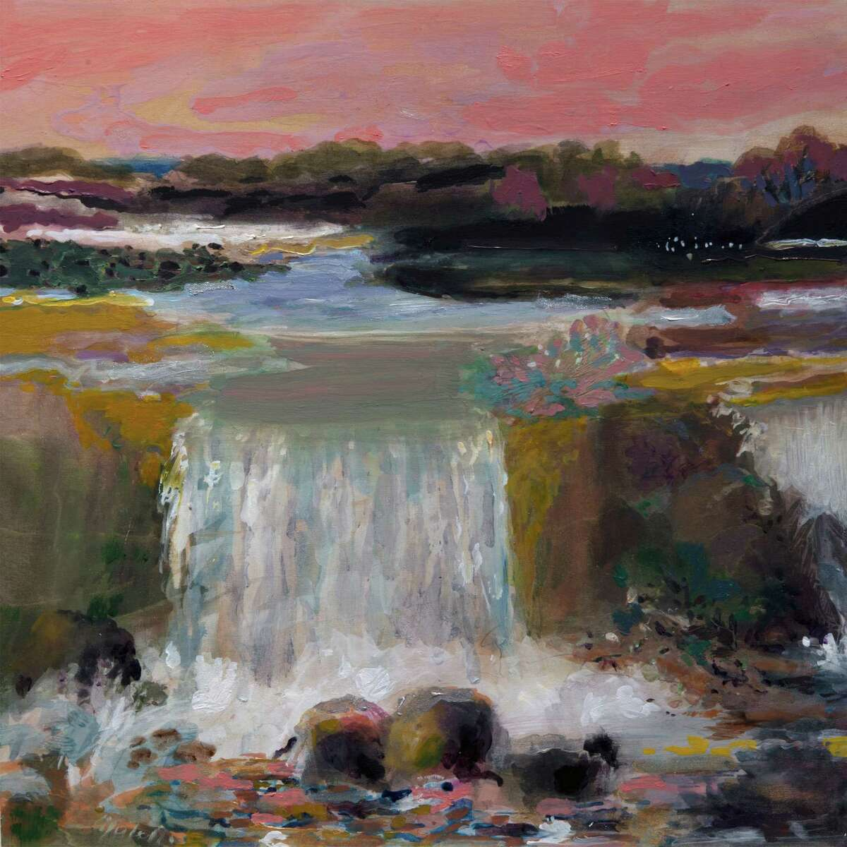 A piece by Alberta Cifolelli, of Westport, is one of the 10-by-10-inch artworks available at the annual Signed, Sealed & Delivered event at the Silvermine Arts Center in New Canaan on Oct. 5.