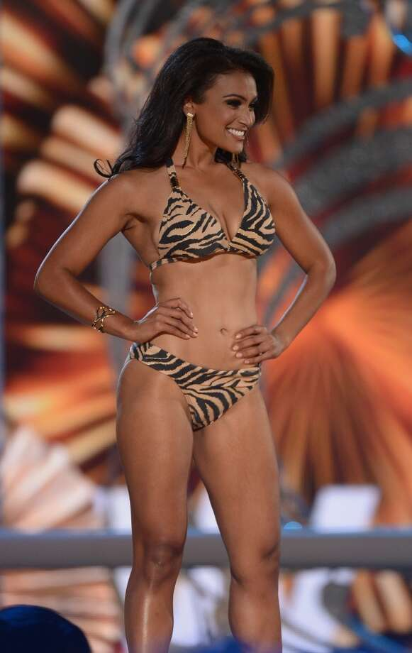 Miss America 2014 Nina Davuluri performs in the bathing suit portion of the competition. Photo: Michael Loccisano, Getty Images