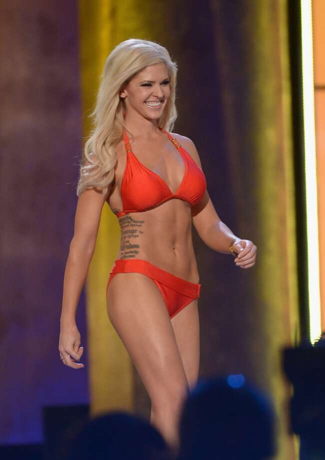Miss Kansas Theresa Vail performs in the bathing suit portion of the pageant. Photo: Michael Loccisano, Getty Images