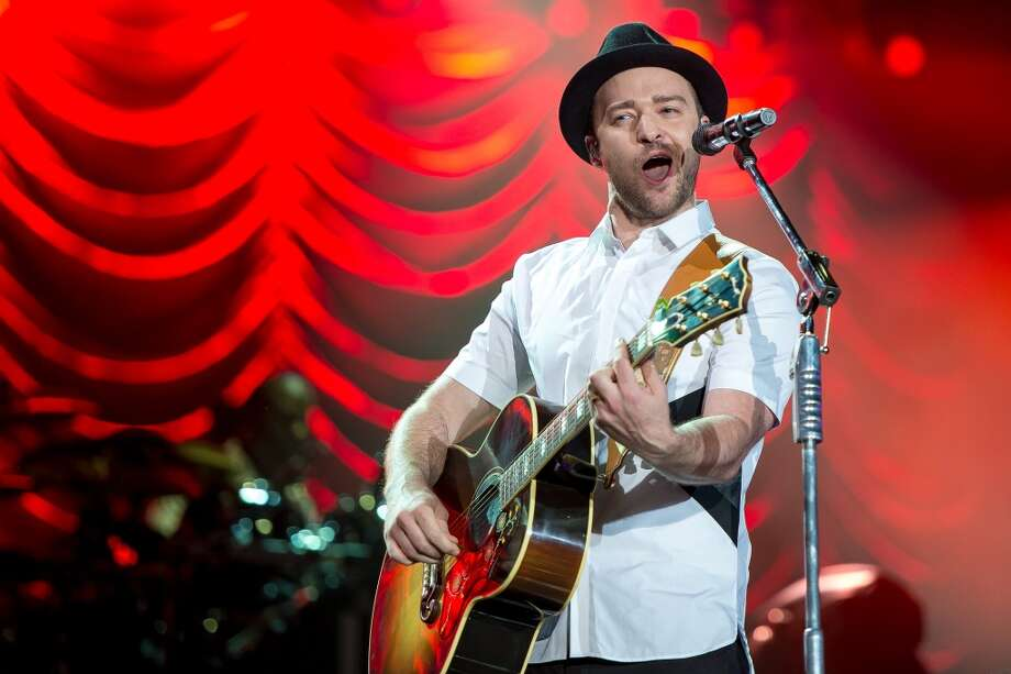 Justin Timberlake performs on stage during a concert in the Rock in Rio Festival on September 15, 2013 in Rio de Janeiro, Brazil. (Photo by Buda Mendes/Getty Images) Photo: Buda Mendes, Getty Images