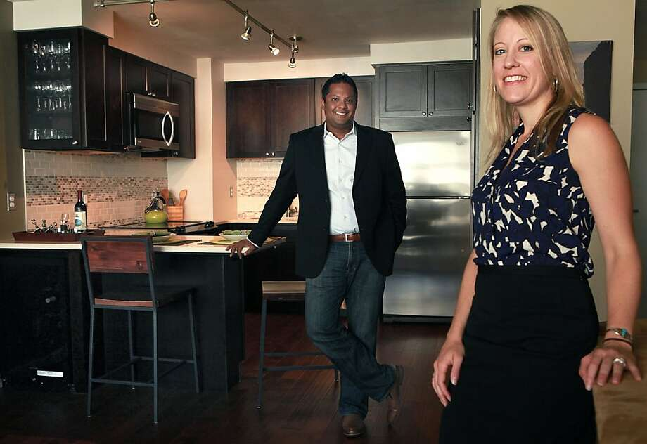 Nik Divakaruni wanted to update his small, awkward bachelor pad kitchen for his fiancee April Worley since they both love to cook and entertain. Photo: Liz Hafalia, The Chronicle