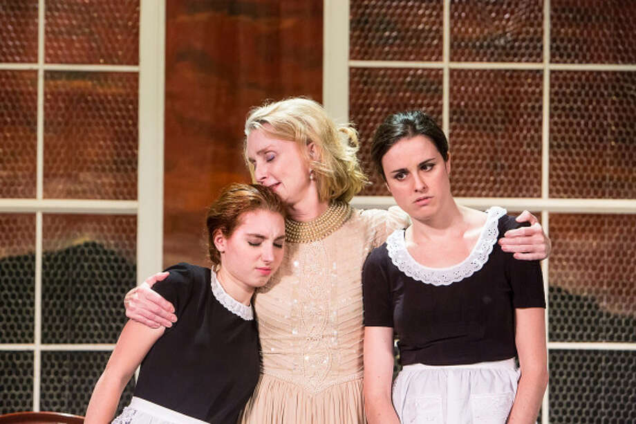"Left to right - Emma Nissenbaum, Katherine Almquist and Kelly McMurray are featured in the Jean Genet drama ""The Maids"" which is being produced by the Sherman Players through Oct. 5. Photo: Contributed Photo"
