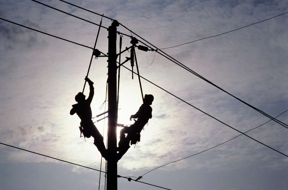 Their job of dangling from power lines is daunting, but electrical power-line installers and repairers are compensated well: The average wage in 2012 was $60,130.Source: Bureau of Labor Statistics Photo: Getty Images