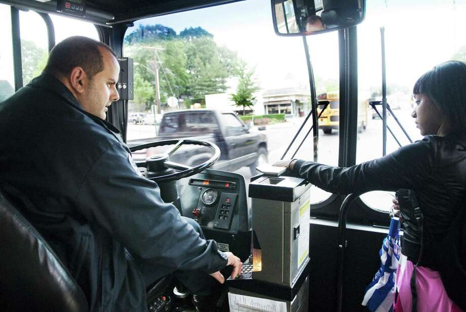 The Connecticut Department of Transportation is holding hearings this week and next on a proposed 15 percent across-the-board hike in bus fares. Photo: Kathleen O'Rourke, ST / Stamford Advocate