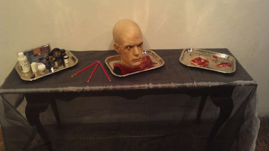 "Snacks, anyone? Just kidding. Examples of theatrical gore were on display at the Friday the 13th launch party for the ""Grand Guignol."" Photo: Carolyne Zinko, The Chronicle"