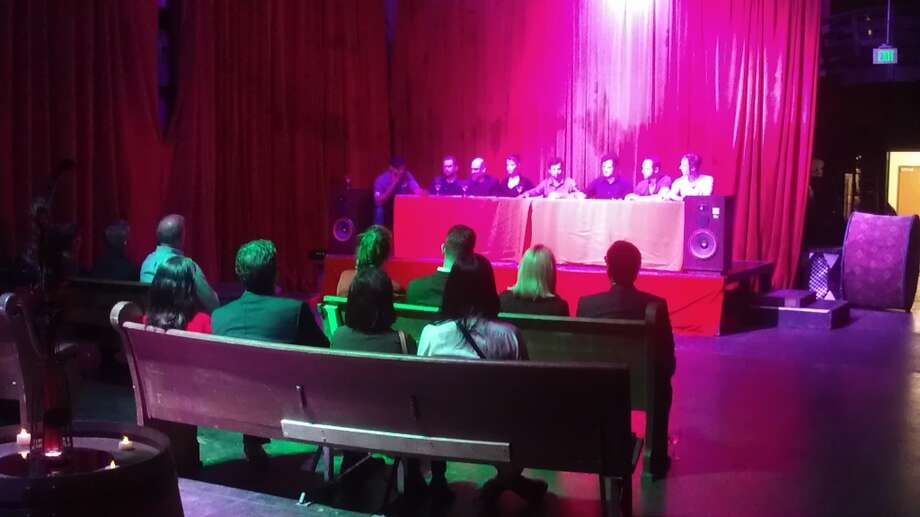 The launch party for the Grand Guignol horror play included a reading by the cast. Photo: Carolyne Zinko, The Chronicle