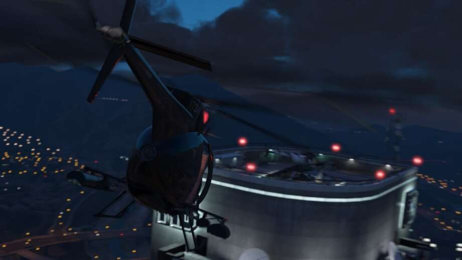 Explore San Andreas via helo in Grand Theft Auto V.