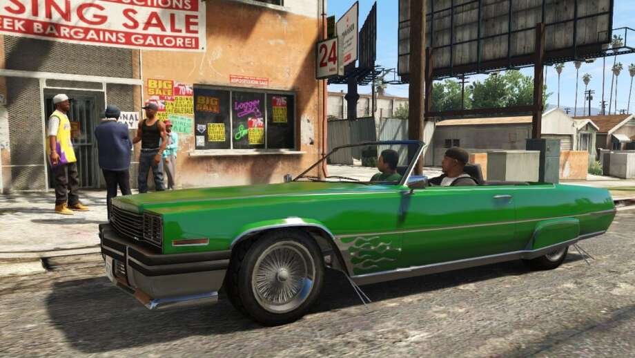 Explore San Andreas via lower rider with your homies in Grand Theft Auto V.