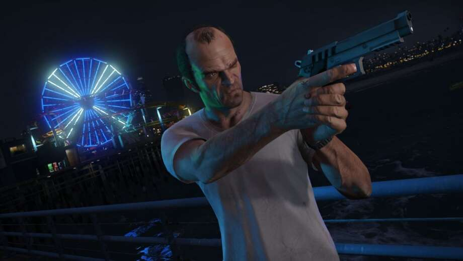 Have pistol, will fire in Grand Theft Auto V.