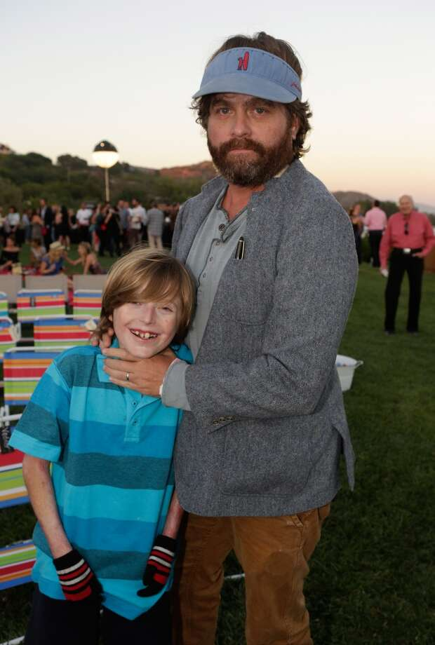 Brandon Joseph and Zach Galifianakis attend Eddie Vedder and Zach Galifianakis Rock Malibu Fundraiser for EBMRF and Heal EB on September 15, 2013 in Malibu, California.  (Photo by Jeff Vespa/WireImage) Photo: Jeff Vespa, WireImage