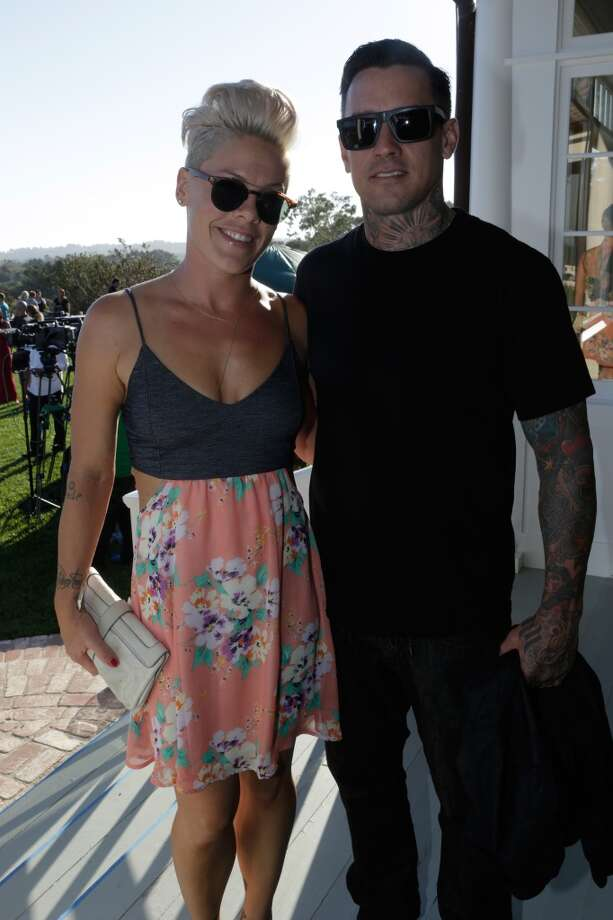 Pink and Carey Hart attend Eddie Vedder and Zach Galifianakis Rock Malibu Fundraiser for EBMRF and Heal EB on September 15, 2013 in Malibu, California.  (Photo by Jeff Vespa/WireImage) Photo: Jeff Vespa, WireImage