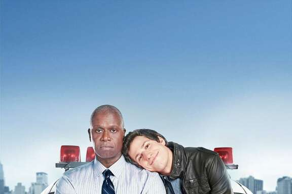 Emmy Award winners Andre Braugher (L) and Andy Samberg (R) star in BROOKLYN NINE-NINE, a new single-camera workplace comedy about what happens when a hotshot detective (Samberg) gets a new Captain (Braugher) with a lot to prove.
