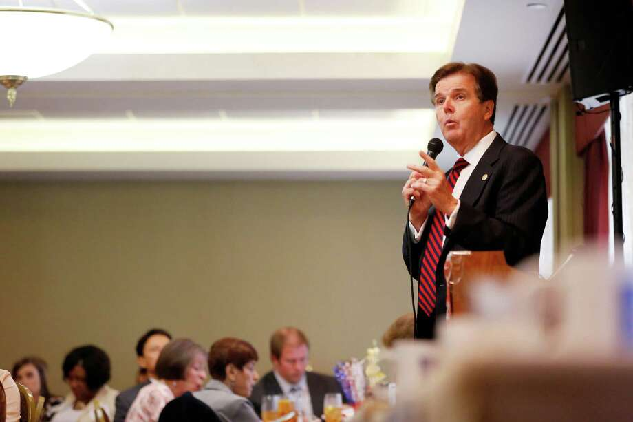 Candidate Dan Patrick speaks during a debate between the four candidates for lieutenant governor, Monday, September 16, 2013 at the Republican's women's forum at the Doubletree hotel in Houston, Texas.  Photo: © TODD SPOTH PHOTOGRAPHY, LLC / © TODD SPOTH PHOTOGRAPHY, LLC