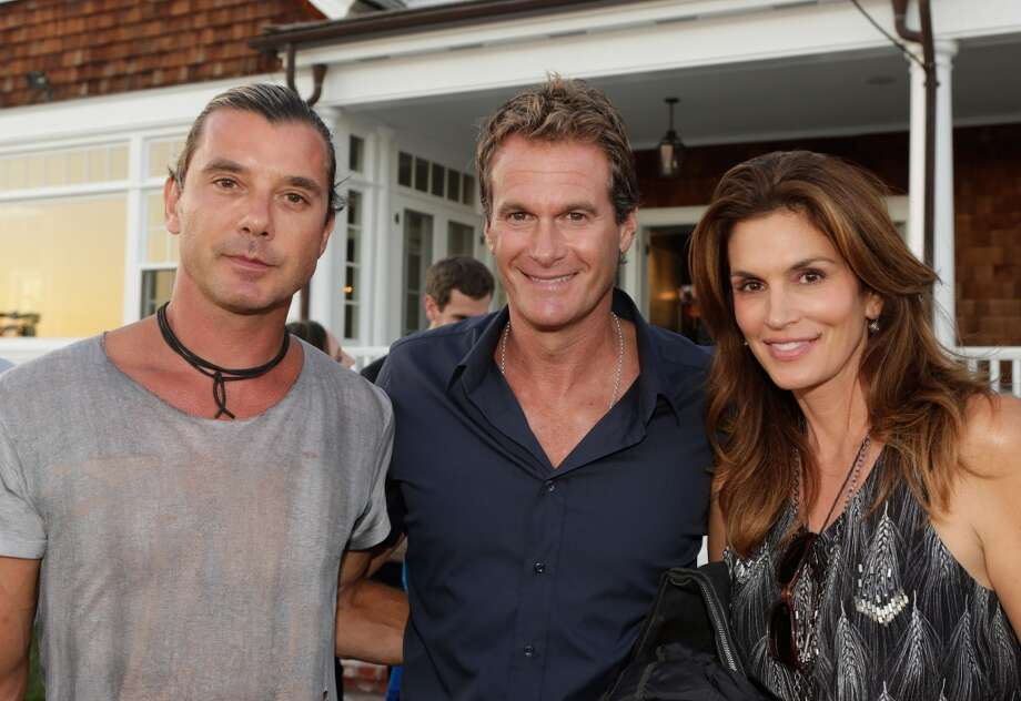 (L-R) Gavin Rossdale, Rande Gerber and Cindy Crawford attend Eddie Vedder and Zach Galifianakis Rock Malibu Fundraiser for EBMRF and Heal EB on September 15, 2013 in Malibu, California.  (Photo by Jeff Vespa/WireImage) Photo: Jeff Vespa, WireImage