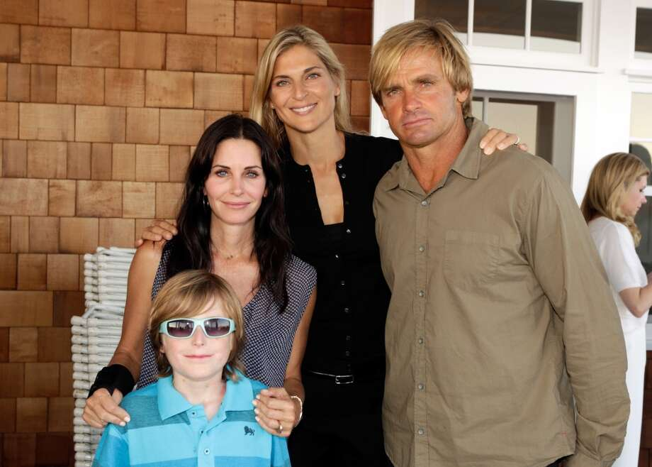 (L-R) Brandon Joseph, Courtney Cox, Gabrielle Reece and Laird Hamilton attend Eddie Vedder and Zach Galifianakis Rock Malibu Fundraiser for EBMRF and Heal EB on September 15, 2013 in Malibu, California.  (Photo by Jeff Vespa/WireImage) Photo: Jeff Vespa, WireImage