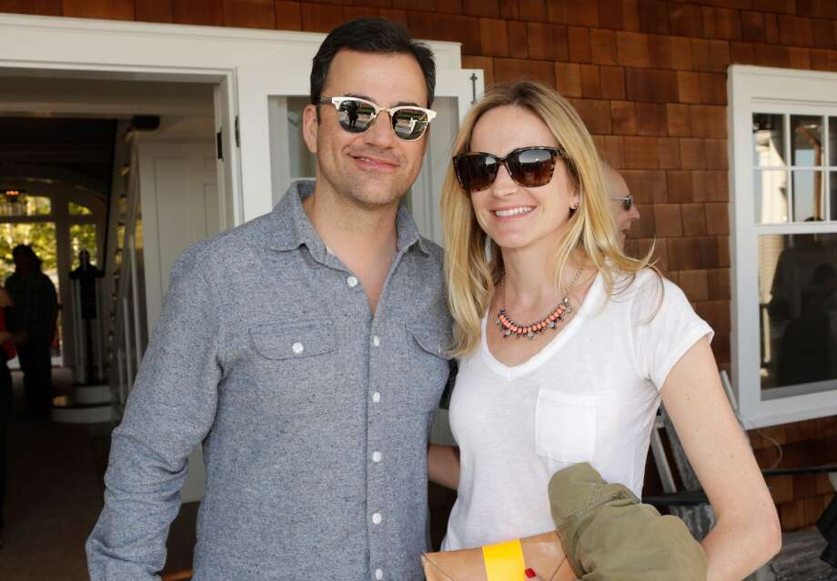Jimmy Kimmel and Molly McNearney attend Eddie Vedder and Zach Galifianakis Rock Malibu Fundraiser for EBMRF and Heal EB on September 15, 2013 in Malibu, California.  (Photo by Jeff Vespa/WireImage) Photo: Jeff Vespa, WireImage