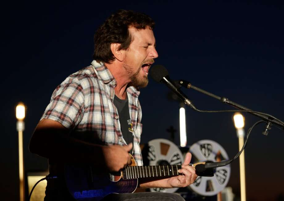 Eddie Vedder peforms onstage at Eddie Vedder and Zach Galifianakis Rock Malibu Fundraiser for EBMRF and Heal EB on September 15, 2013 in Malibu, California.  (Photo by Jeff Vespa/WireImage) Photo: Jeff Vespa, WireImage