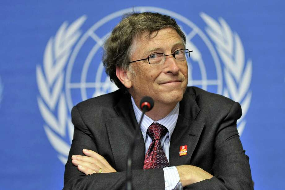 Microsoft founder Bill Gates looks on during a press conference following his speech at the World Health Assembly to make a push for vaccine programs.  AFP PHOTO / FABRICE COFFRINI (Photo credit should read FABRICE COFFRINI/AFP/Getty Images) Photo: FABRICE COFFRINI / G AFP