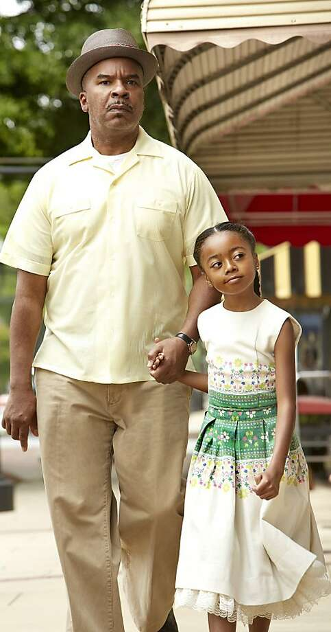 "In the summer of 1963, an all American family from Flint, Michigan sets out on a road trip to Birmingham, Alabama where their experiences give them a newfound courage to stand up for what is right. (Left to right: David Alan Grier, and Skai Jackson in, ""The Watsons Go to Birmingham."") Photo: Quantrell D. Colbert, Hallmark Channel"