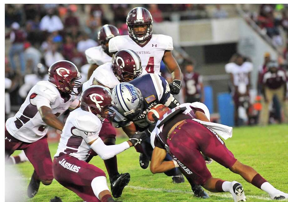 The West Orange-Stark Mustangs hosted the Beaumont Central High School Jaguars Friday night September 13, 2013.  The score at the half was Mustangs 17, the Jaguars 0.     Dave Ryan/The Enterprise Photo: Dave Ryan