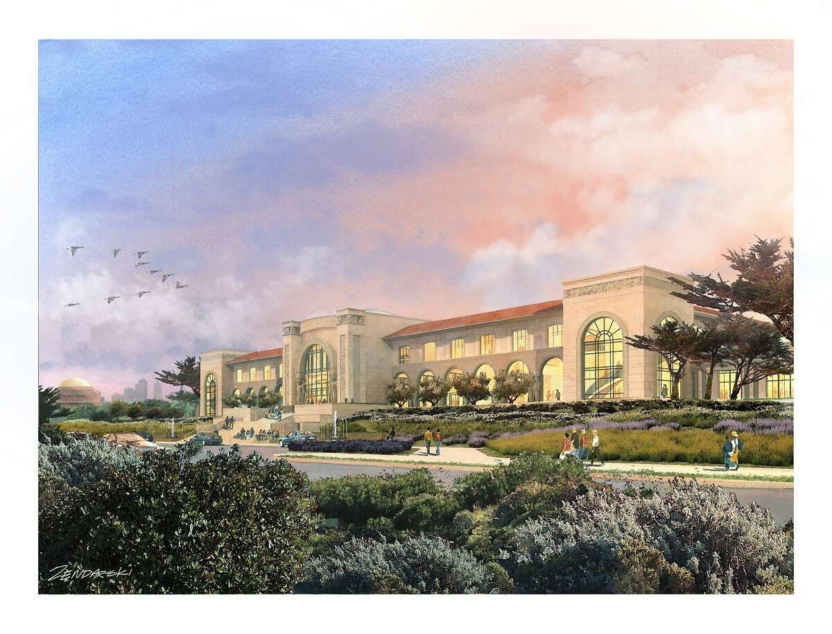 The proposed Lucas Cultural Arts Museum would replace the Sports Basement at Crissy Field and is designed partly as an homage to such early 20th Century buildings as the Palace of Fine Arts.