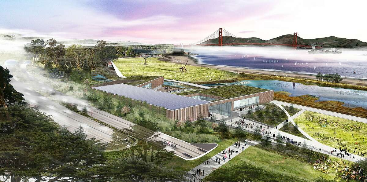 """The Bridge -- billed as """"a hybrid museum, science and nature center"""" -- is one of the three proposals for the site facing Crissy Field now occupied by the Sports Basement."""