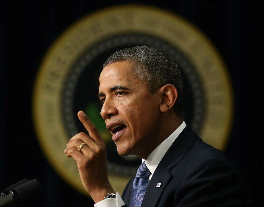 President Barack Obama warns the GOP against demanding a delay of the Affordable Care Act in exchange for averting a federal financial shutdown. Photo: Mark Wilson / Getty Images
