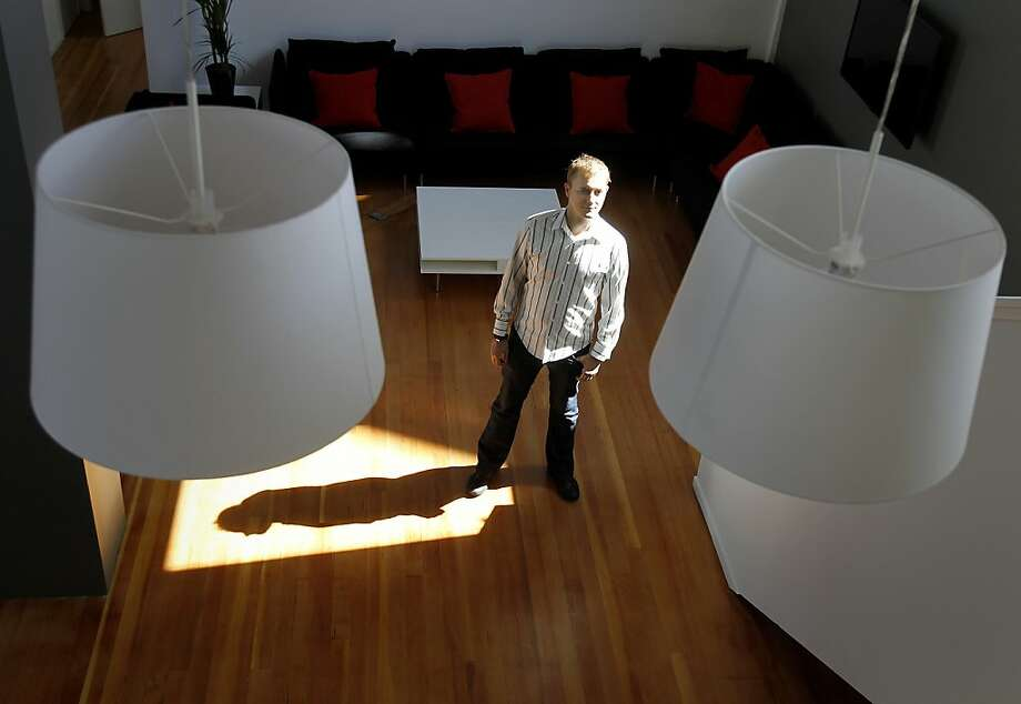 Co-founder Matt Mickiewicz stands on the main floor of Hired's new offices on Decatur Street. Photo: Brant Ward, The Chronicle