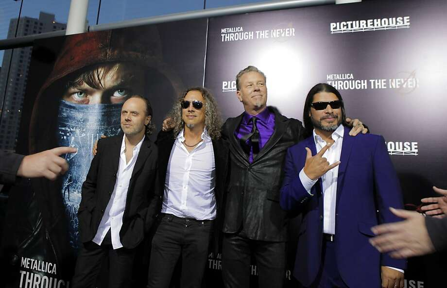 "Members of the band Metallica attended the U.S. premiere of the movie, ""Metallica Through the Never,"" at the Metreon Theater in San Francisco, Calif., on Monday, September 16, 2013. Photo: Carlos Avila Gonzalez, The Chronicle"