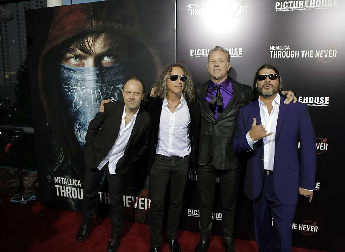 Members of the band Metallica attended the U.S. premiere of the movie,
