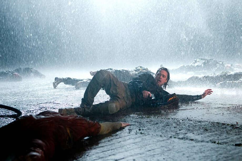 Brad Pitt as Gerry Lane, fighting off zombies at Camp Humphreys, Korea. Photo: Paramount, 2013