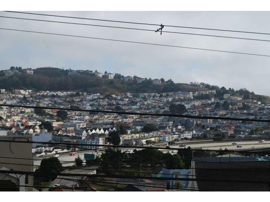 View over city. Photos via MLS/Amy Lui, Alain Pinel Realtors