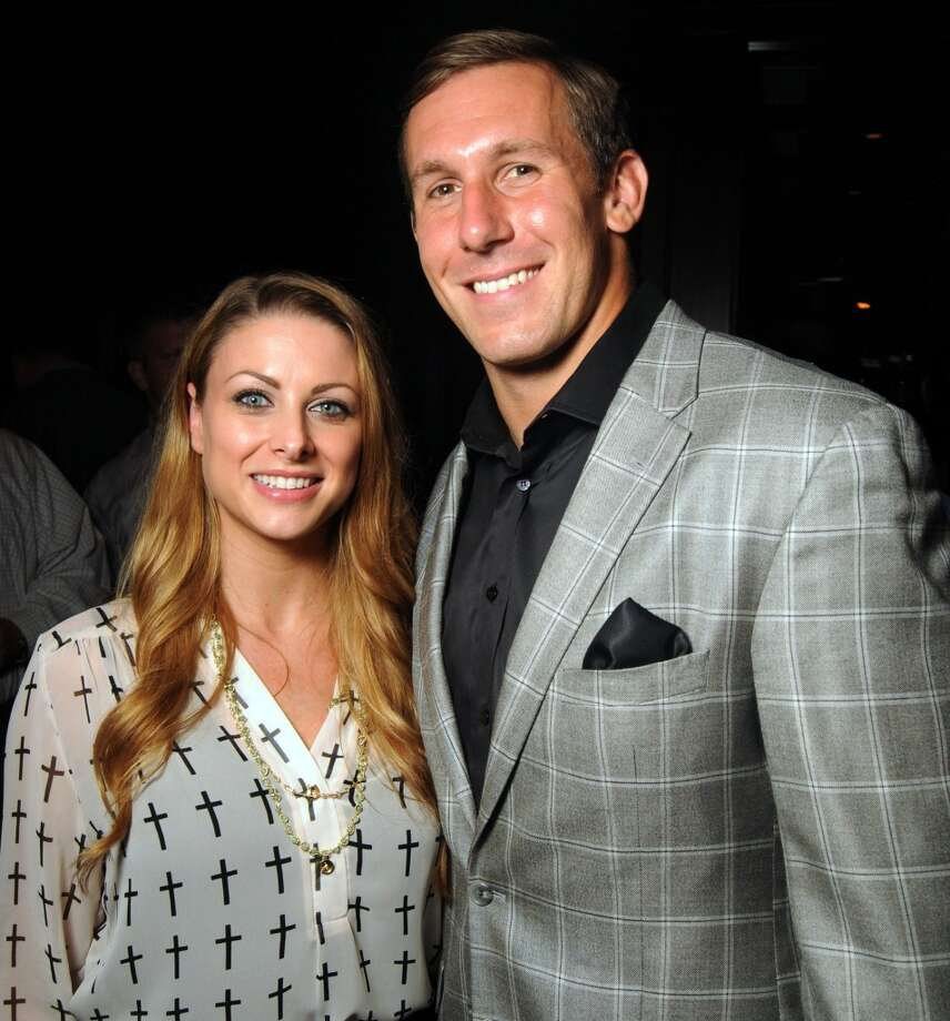 Owen Daniels and his wife Angela Photo: Dave Rossman, For The Houston Chronicle